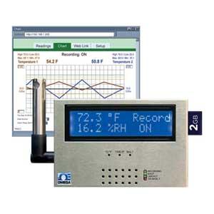 Monitoramento Ambiental e Gravação pela Internet,  Temperatura + Umidade e Ponto de Orvalho | Série iSD