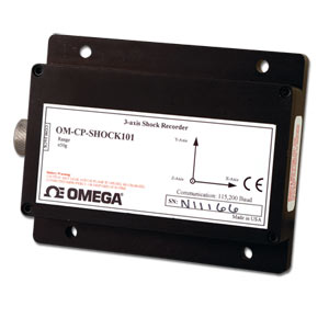 Tri-Axial Shock Data Logger Part of the NOMAD®Family | OM-CP-SHOCK101