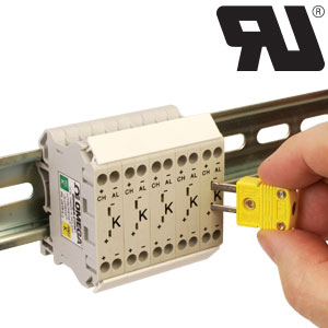 Thermocouple terminal blocks with miniature TC connectors. | DRTB-2