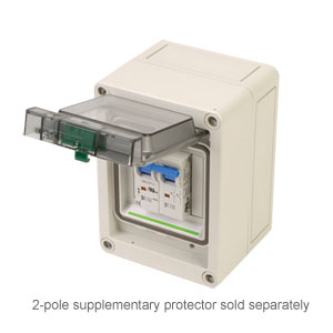 Electrical Enclosures for DIN Rail Mounted Circuit Breakers and Fuse Holders | EK Series Polycarbonate Enclosures