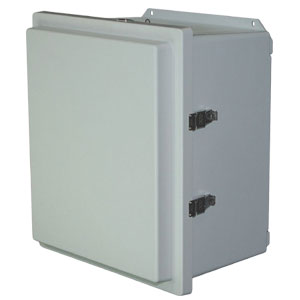 Heavy-Duty Solar Battery Box NEMA 4X (IP66) Weatherproof Fiberglass Enclosure | OM-AMHD-R Series Solar Battery Box