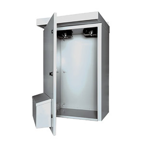 Outdoor Enclosures, NEMA 3R Electrical Enclosure with Fan | SCE-3RV Series Weatherproof enclosures