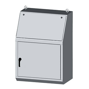 NEMA Type 12 Single Door Operator Workstations - Electrical Cabinets for Industrial Operator Interface to Mount Push Buttons and HMI's, by Saginaw Control | SCE-14 Series Expandable Operator Workstations