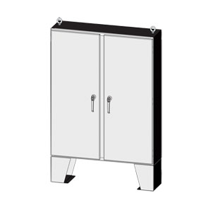 NEMA Type 4x 304 & 316 Stainless Steel Electrical Enclosure for Harsh Enviornments, 60x48 to 72x72 sizes, Enviroline® Series by Saginaw | SCE-ELSSLP Series Outdoor Electrical Enclosures