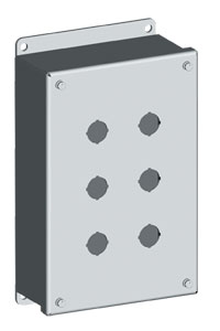 NEMA Type 12  Pushbutton Enclosures for 22mm & 30mm Push Buttons | SCE-PB Series Pushbutton Enclosures