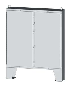 NEMA Type 4x 304 and 316 Stainless Steel Two-Door Electrical Enclosures and Cabinets by Saginaw Control | SCE-HSSLP Series Electrical Cabinet