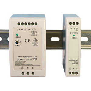 Power Supplies, DIN Rail Mount Slimline Power Supplies, 5 Vdc, 12 Vdc, 24Vdc & 48 Vdc Power Supply | SL-PS Series Power Supplies
