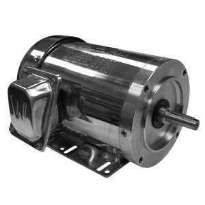 Washdown Duty Stainless Steel 3-Phase AC Motors | WSS Series 1/3 TO 2 HP TEFC Motors