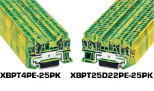 Spring Cage Ground Terminal Blocks | XBPT PE Series