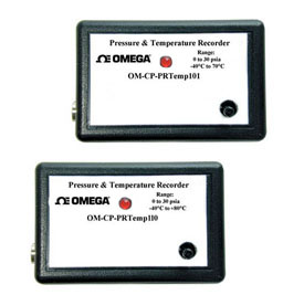 Pressure and Temperature Data LoggersPart of the NOMAD®Family | OM-CP-PRTEMP101 and OM-CP-PRTEMP110