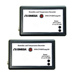 Humidity and Temperature Data Loggers,Part of the NOMAD®Family   OM-CP-RHTEMP101 and OM-CP-RHTEMP110