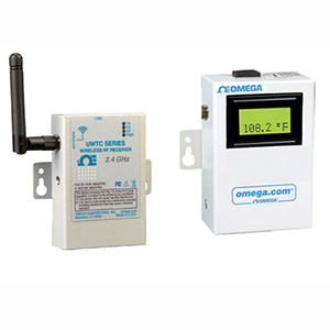 Wireless Connector/Transmitter Receivers Monitor up to 48 Temperature, Humidity, pH or Process Signals | UWTC-REC1 and UWTC-REC2
