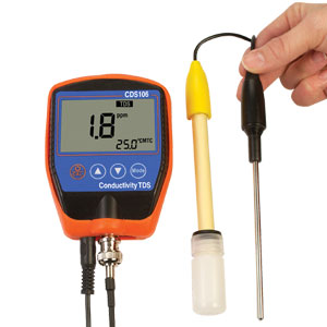 Portable Conductivity, TDS, Temperature and Salt Meter | CDS106