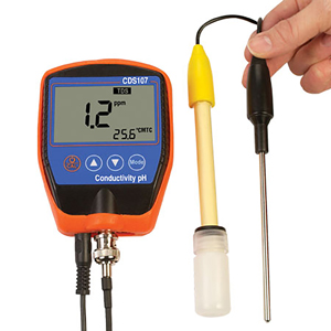 Portable pH, ORP, Conductivity,TDS, Salt and Temperature Meter | CDS107
