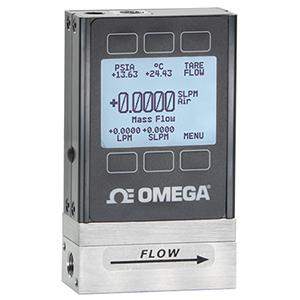 质量和体积流量计 - 质量流量计显示流量、压力和温度!  20+气体选择功能。 | FMA-1600A