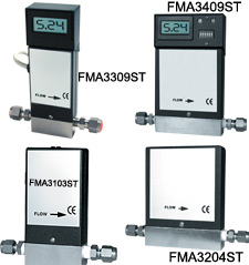 Stainless Steel Mass Flowmeters and Controllers | FMA3100ST, FMA3200ST, FMA3300ST, FMA3400ST Series