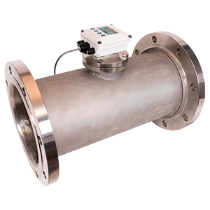 Turbine Flow Meters Stainless Steel Flange Mount | FTB700-S Shown with DPF140 Series Display