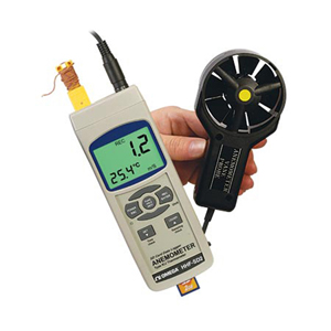 Vane Anemometer with Real Time Data Logger | HHF-SD2