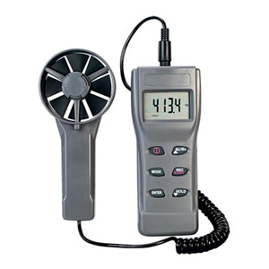 Air Velocity Meter with CFM/BTU/Dew Point/Wet Bulb/Temp/Humidity