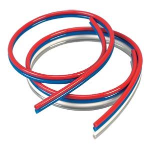 MCRPT Series Tubing, 95A Durometer Polyurethane Tubing:Omegaflex® Multi-Colored Ribbon Polyurethane Tubing -Discontinued