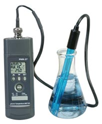 Handheld pH/mV Temperature Meter with RS232 Communications and Software | PHH-37