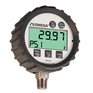 General Purpose Digital Pressure Gauge with Protective Rubber Boot