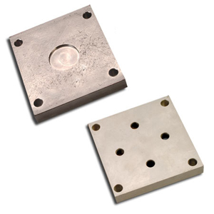 Top and Bottom Mounting Plates for LCM1001/LCM1011 Series Metric Load Cells, Alloy Steel, Ni Plated Steel or 17-4 Stainless Steel | LCM1000-BP4 and LCM1000-TP4