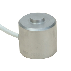 25.4 mm Diameter Stainless Steel Compression Load Cell, Metric, 0-100 to 0-50,000 N Capacities | LCM304 Series