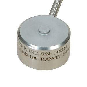 Miniature Industrial Compression Load Cell, Metric, 0-100 to 0-200,000 Newtons | LCMGD Series