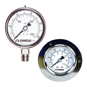 Stainless Steel, Liquid-Fillable, Industrial Pressure Gauges- Models PGM-100 and PGM-63 | PGM Series