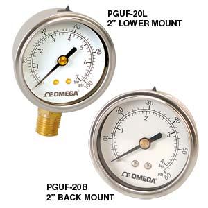 psi pressure gauge, bar pressure gauge | PGUF Series