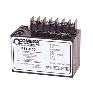 Regulated Power Supply for Transducers and Bridges, Adjustable 4 to 15 Vdc Output | PST-4130