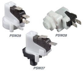 Pressure and Vacuum Switches, Compact Rugged Pre-Fixed Setpoint | PSW27, PSW28, and PSW29 Series
