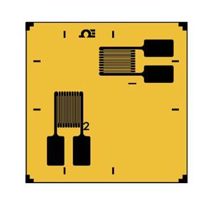 高精度ひずみゲージT型積層ロゼット-2素子90°軸方向ひずみ測定用 | SGD-3/120-RYB21 | SGD-3/120-RYB21