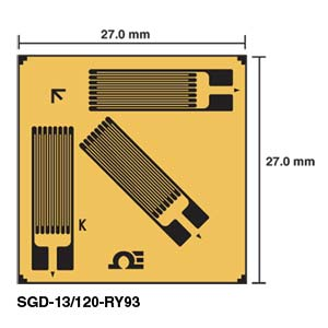 Corner Rosette Strain Gages | SGD-13/120-RY93