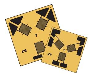45 Degree Rosette Strain Gages 60 Degree Rosette Strain Gages | SGD-3/350-RY11