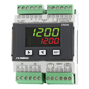 DIN Rail Mountable Universal Temperature Process Controller | CN245-R1-R2-F3-C4
