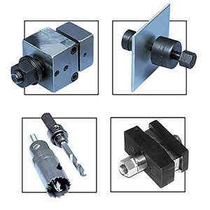Panel Punches and Hole Saws for Thermocouple Connectors, DIN Size Controllers and Panel Meters | CP, DPP, RHS, RHP, RS Series