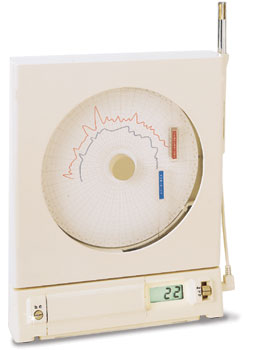 Microprocessor-Based Temperature/Relative Humidity Circular Chart Recorder | CT485B Series