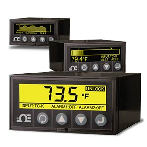 1/8 DIN  그래픽 디스플레이 패널 계측기/데이터 기록기 | DPi1701 시리즈