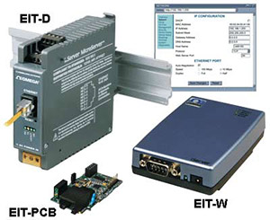 Serial-to-Ethernet iServer MicroServer | EIT-W, EIT-D, EIT-PCB