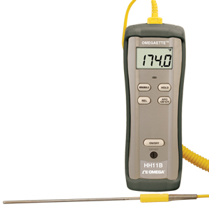 Omega's Digital Thermometers with Dual-Input or Single-Input | HH11B, HH12B