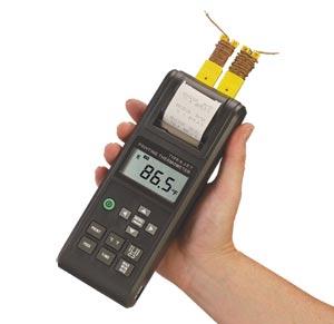 인쇄 기능이 적용된 휴대용 써모미터 | HH1304P
