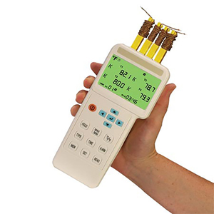4개 입력 써모미터 및 데이터 로거 - USB 입력 | HH1384