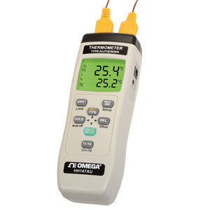 Handheld Thermocouple Thermometer with Data Logging | HH147AU