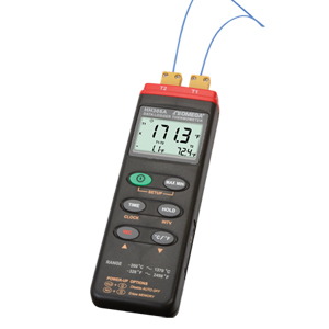 Small dual input thermometer and powerful data logger | HH306A
