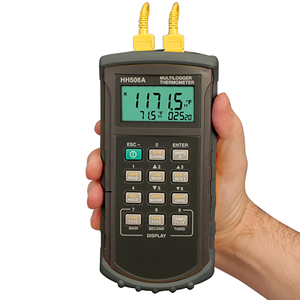 Dual Input, High Accuracy Datalogger/Thermometer | HH506A and HH506RA