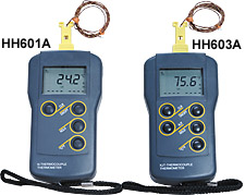 Water Resistant Handheld Thermocouple Meters | HH600A Series