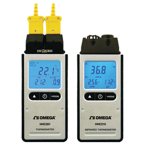 Digital Thermometer with Infrared or Dual Thermocouple Input | HHC200-Series