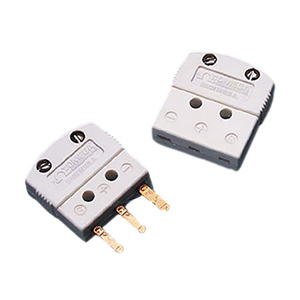 3-Prong Mini flat pin Connector for Thermocouple, RTD and 3-Wire Thermistor | MTP Series